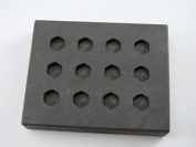 1.5 Gramme Hexagon Gold & Silver Bar High Density Graphite Mould 12 Cavity