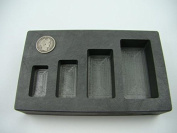 1-2-5-300ml High Density Graphite Gold Bar Mould 4-Cavities-Silver Copper Scrap