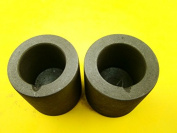 Lot of 2 Graphite 440ml Crucibles for Melting Gold-Silver-Copper- 5.1cm W x 5.1cm Tall