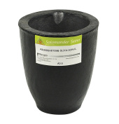 A0.5 - 1 Kg Salamander Super Clay Graphite Crucible for Precious Metal Melting Casting Gold Brass Silver Refining