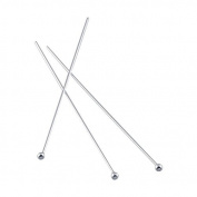 Beadthoven 50pcs Silver Plated Brass Ball Headpins, DIY Jewellery Necklace Beading Making, Size