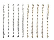 10cm Silver & Gold Tone Jewellery Extenders ~ Pack of 10
