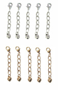 2.5cm Silver & Gold Tone Jewellery Extenders ~ Pack of 10