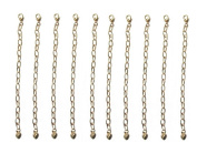 10cm Gold Tone Jewellery Extenders ~ Pack of 10