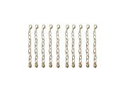5.1cm Gold Tone Jewellery Extenders ~ Pack of 10