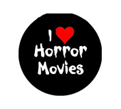 I Love Horror Moies Pinback Button Brooch 3.2cm