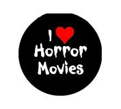 I Love Horror Moies Pinback Button Brooch 3.2cm