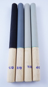 Jewellers Tools 4 Round Emery Grit Polishing Stick Grade 1/0,2/0,3/0,4/0