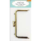 Extra Clasp For Heart Clasp Purse-Brass 8.3cm x 15cm