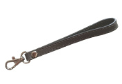 Replacement Silvertone Buckle Cowhide Genuine Leather Wrist Strap for Clutch Wristlet Purse Pouch