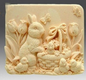 Let'S Diy Rabbit with Chicken Family Silicone Handmade Soap Moulds Candle Mould