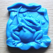 Let'S Diy Cute Frog under the Lotus Leaves.3D Silicone Candle Moulds Handmade Soap Mould