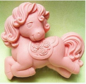 Let'S Diy Cute Little Horse 3D Silicone Non-Stick Handmade Soap Candle Moulds