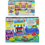 Play-Doh Sweet Shoppe Double Desserts Play Set + Play-Doh Confetti Compound Bundle