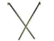 Dandiya Sticks - aluminium stick, Pair of 2 Green Colour Dandiya Curl Design, Special Navaratri Ocassion