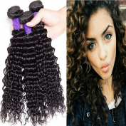 Lemoda Hair Brazilian Virgin Hair Curly Hair bundles 7A Grade Black Colour Hair Extension Weave Human Hair 3 Bundles (100+/-5g)/bundle Any Mix Length Available
