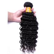 Oriental Show 8~80cm 6A Brazilian Deep Wave, 1 bundle(100g), 100% Unprocessed Virgin Human Hair, Natural Colour