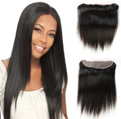 Fabeauty Free Part Lace Frontal Closure 33cm x 10cm Ear To Ear Straight Brazilian Human Hair Lace Front Closures Top Extensions With Baby Hair Natural Colour