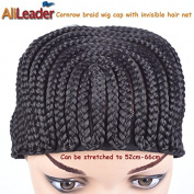 4Pcs Black Newly Cornrows Wig Caps For Making Wigs Glueless Hair Net Crochet Braid Wig Caps from AliLeader