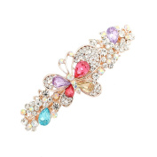 GSM Accessories Womens Rhinestone Butterfly Large Size Alloy Hair Clips Barrettes HC199-Multicolor