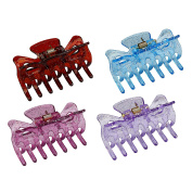 Mokale 4 PCS Mini Jaw Clips Mix Coloured Butterfly Design Plastic No Slip Hair Clip Claw Hair Accessories for Women/Girls/teenagers