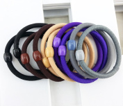 Korean Style Hair Tie Seamless Elastic Ponytail Holder Hair Bands Hair Rope 20 Pieces/pack