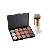 Lookatool 15 Colours Face Concealer Camouflage Cream Contour Palette+1 PC Brush Set