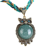 OVERMAL Women Bohemian 2016 New Hot Fashion Womens Rhinestone Owl Gem Pendant Statement Necklace