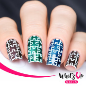 Whats Up Nails - Puzzles Nail Stencils Stickers Vinyls for Nail Art Design