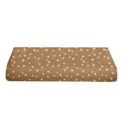 BKB Changing Pad Cover, Lucky Stars Tan