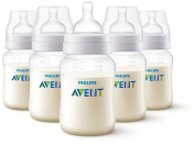 Philips AVENT Anti-Colic BPA Free Bottle, Clear, 270ml,5 Piece