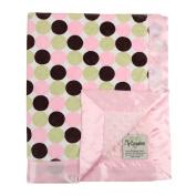 My Blankee Retro Dot Minky w/ Minky Dot Pink Baby Blanket, 80cm x 90cm
