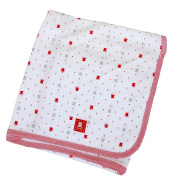 OYBY Royal Double Layer Cotton Swaddle blanket, Baby nursery-receiving Red