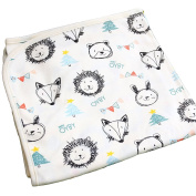 OYBY Sketchbook Double Layer Cotton Swaddle blanket, Baby nursery-receiving Caramel