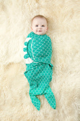100% Organic Cotton Simple Swaddle, Mermaid