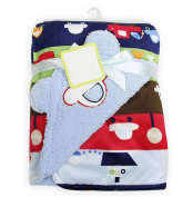 High Grade Super soft Double layer microfleece baby blanket with lovely embroidery