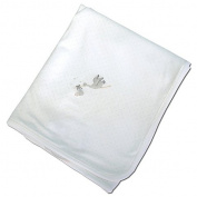 Magnolia Baby Worth the Wait Stork White Blanket, 80cm x 70cm