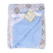 IEVE 120cm x 150cm Top Grade 0.7kg Short Plush Baby Boy Girl Nursery Blanket Throw