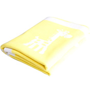 Colour magnet Super soft 100% cotton thread blanket toddler swadding safety warm Fabric- Yellow Giraff