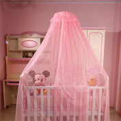 Baby Mosquito Net Kid Toddler Bed Crib Canopy Netting Hanging Lace Dome Round Hoop Canopy