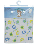 "Honey Baby ""Spotted Elephants"" Fitted Crib Sheet - white, one size"