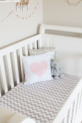 Bambella Designs Fitted Crib Sheet - Grey Chevron