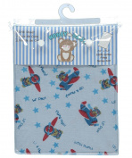 "Honey Baby ""Lil' Pilot"" Fitted Crib Sheet - blue, one size"