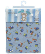 "Honey Baby ""Road Work"" Fitted Crib Sheet - blue, one size"