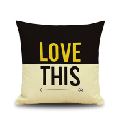 "WEKSI ""Love and Heart"" Theme Cotton Linen Square Throw Pillow Case Decorative Sofa Cushion Cover Pillowcase 18""18"" Bicycle"
