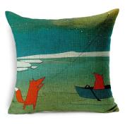 Pillow Case,Dirance(TM) Home Decor Printing Red Fox Square Pillow Case Sofa Waist Throw Cushion Cover