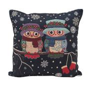 Pillow Case,Dirance(TM) Home Decor Printing Owl Square Pillow Case Sofa Waist Throw Cushion Cover