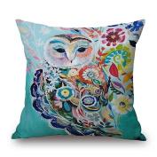 ValentoriaColorful Dog Cat Cotton Linen Square Decorative Throw Pillow Case Cushion Cover 46cm x 46cm