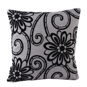 Pillow Case,Dirance(TM) Home Decor Ombre Flowers Printed Square Pillow Cover Bed Sofa Waist Throw Cushion Cover