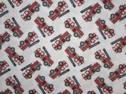 Fire Truck (Flat Top Sheet Only) Size TODDLER Boys Girls Kids Bedding